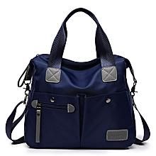 Fashion Large-capacity Shoulder Bag Portable Diagonal Backpack Handbag (Color:Blue Size: + M)