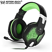 EACH G1000 PC Gaming Bass Stereo Headset Microphone LED Light Laptop Computer JY-M