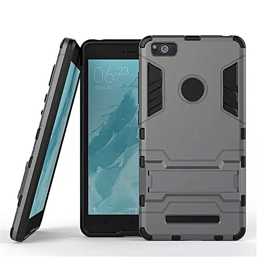 best service 21777 857b1 Hard Cover Invisible Bracket 2 In 1 New Mobile Phone Case For Xiaomi Mi 4i  (Grey)