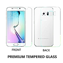 Clear Front + Back Tempered Glass Screen Protector Protective Film For Sam sung S6 Edge