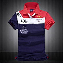 New Cotton AERONAUTICA MILITARE Air Force One Polo Shirts-red