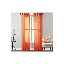 Orange Sheer Curtain - 2 Pieces