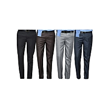 Men's Formal Office Trousers Pants (Pack of 4)