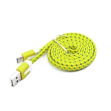 Genuine Nylon Braided USB 3.1 Type-C Data Sync Charger Charging Cable 2M-Yellow