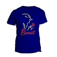 Her Beast Royal Blue  Printed T-Shirt Design