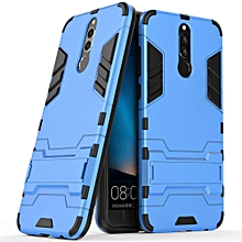 Huawei Mate 10 Lite Case, Huawei Mate 10 Lite Hybrid Case, Dual Layer Shockproof Hybrid Rugged Case Hard Shell Cover with Kickstand for 5.9'' Huawei Mate 10 Lite - Blue