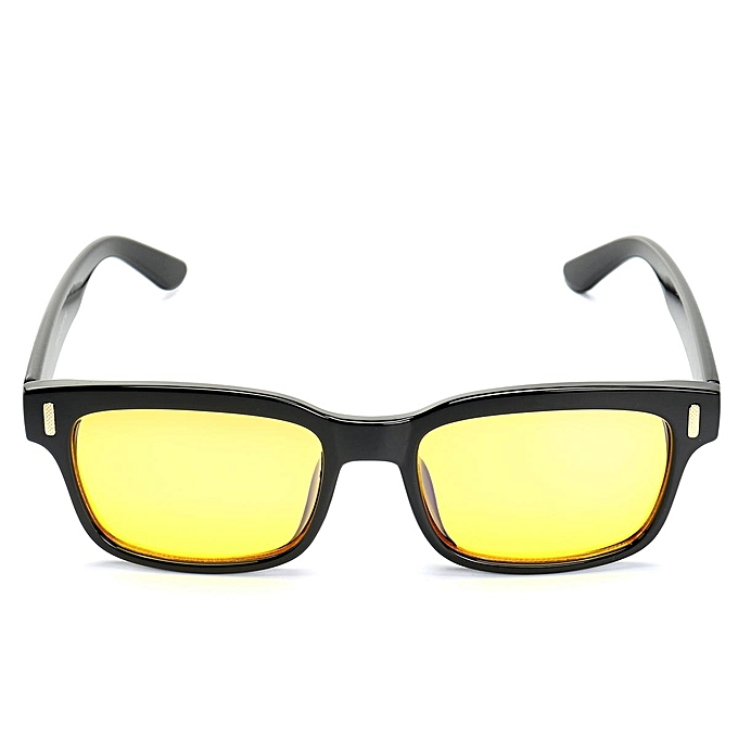5ab5f6161c2 Men Women Computer Yellow Lens Glasses Light Blocking Anti Blue Protection  UV  Brilliant Black
