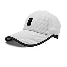 f3b70edc097f0 UJ Unisex Sports Cap Outdoor Baseball Long Visor Breathable Mesh Sunshade  Hat-white