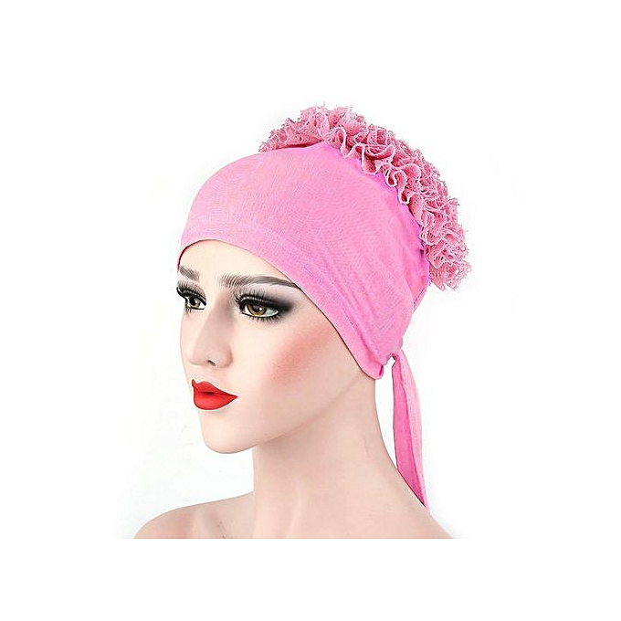 bc18e25ec4f Women Muslim Flowers Hat Chemo Cap Hair Loss Head Scarf Wrap Hijib Cap PK