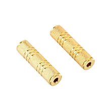 Fovibery 2Pcs 3.5mm Stereo Audio Gold Plated Female To Female Jack Coupler Adapter