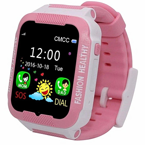 f4689b9361e4da Generic C3 Touch Screen Smart Watch Waterproof Band GPS+LBS Locator Tracker  SOS Call For IOS And Android (Pink) WANKAI