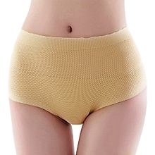 Fashion Leadsmart  Mid Waist Solid Color Padded Seamless Women Body Shape Slimming Panties