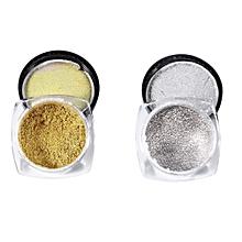 Professional 2 Colors Nail Glitter Powder Shinning Mirror Shadow Makeup Powder