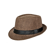 Brown Turtan Soft Fedora Panama Unisex Straw Classic Woven Hat