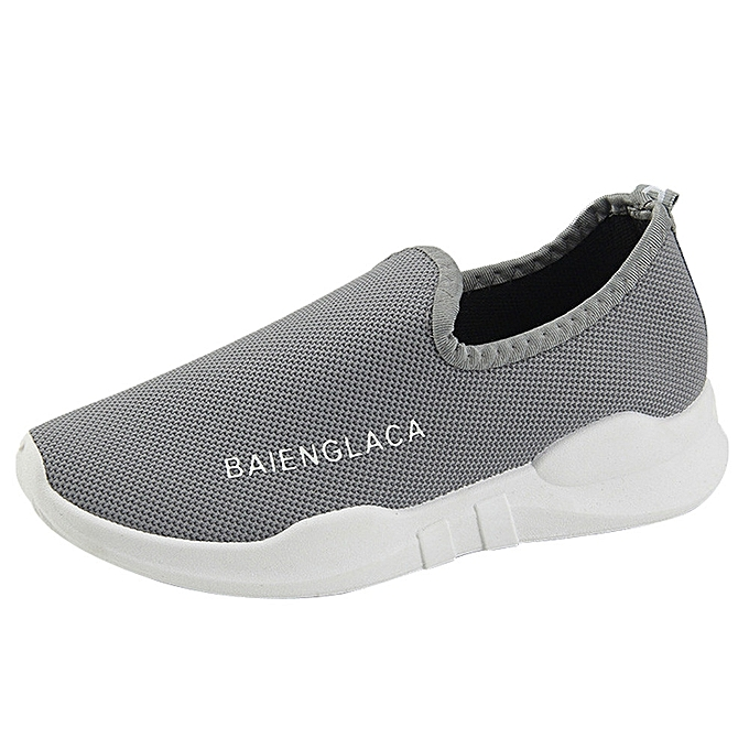 fa2a68ef4f6 Women Solid Mesh Round Toe Ventilation Running Shoes Gym Shoes Casual Shoes