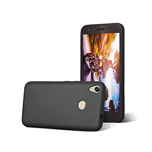 official photos 191c2 b9087 INFINIX HOT 5 (X559C) Back Cover - Silicone Rubber Finish Black
