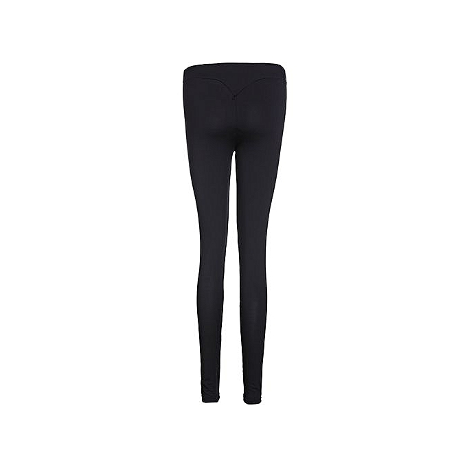 321e97de9840 Womens Ladies Yoga Fitness Leggings Running Gym Stretch Sports Pants  Trousers Black