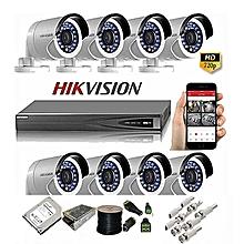 720P 8 Channel Turbo Full HD CCTV Kit w/1TB Hard Drive