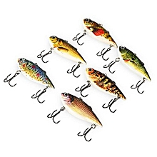 PROBEROS 6pcs Outdoor Fishing Lures Bait With 2 Hook-COLORMIX