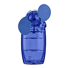 Portable Handheld Mini Air Conditioner Cooler Fan  Battery -Blue