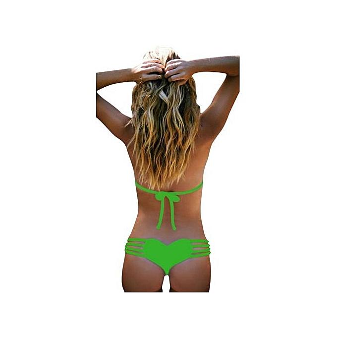 88e5e638f0 Xingbiaocao Women Sexy Thongs G-string Panties Brief Bikini Knickers  Lingerie Underwear -Green