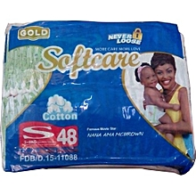 Diapers,Gold Softcare Midi, 3-6 Kgs,(Count 48)