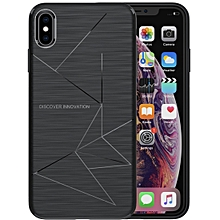 NILLKIN Rhombus Texture TPU Protective Back Cover Case for iPhone XS Max(Black)