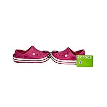 Sandal Crocband Kids Raspberry/White Child- 10998-604- J1