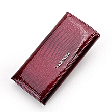 Women Wallets Genuine Leather Wallet Female Purse Long Coin Purses Holders Wallets And Purses Purple Red
