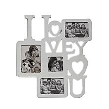 """I Love You"" Photo Frame - White"