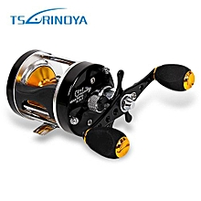 TSURINOYA Portable Bait Casting 5:2:1 Right Left Hand Drum Fishing Reel-COLORMIX