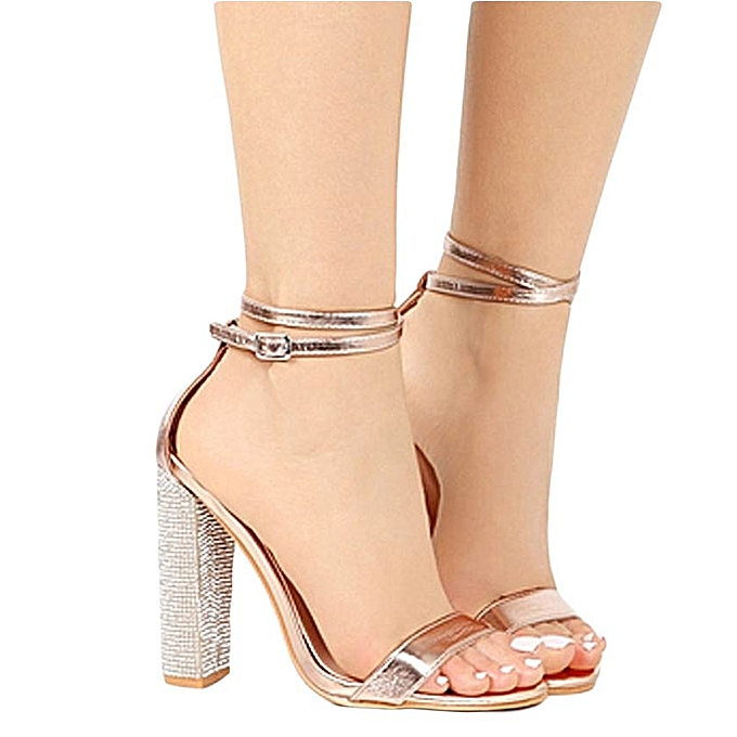 0ccd107fee3 Generic Sexy Gold Drill High-heeled Sandals   Best Price