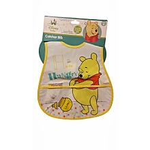 Infant catcher bib tatty teddy yellow 100% Peva
