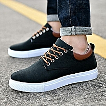 Nice Beauty Fashion Big Size 39-47 Brand Solid Color Men Breathable Outdoor Casual Canvas Men's Shoes-black