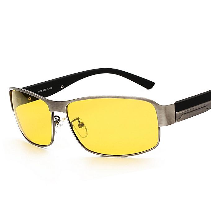 e8bbb5a7b96 AORON Night Vision Men Polarized Sunglasses Anti-glare Goggles HD Driving  Sun Glass Box UV400