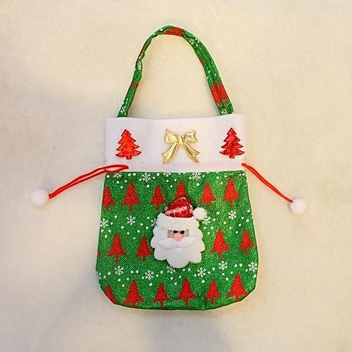 moon store christmas drawstring gift bag sweet fabric sack pocket xmas 2420cm christmas santa