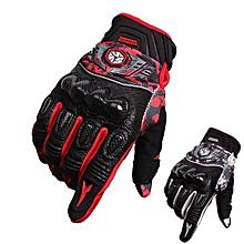 Full Finger Motorcycle Safety Gloves Racing Carbon Fiber SCOYCO MX49