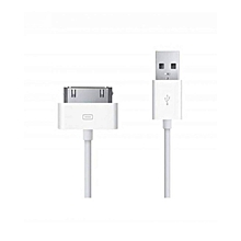 For IPhone2/3/4/ipad2/3/4/ipod - Charger/data Cable - White.