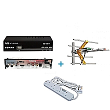 FREE to Air TV Digital Decoder + a FREE Digital Receiver Antenna/Aerial and a FREE Heavy Duty 4-Way Socket Extension Cable