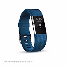 Fitbit Charge 2 Heart Rate + Activity Tracker, Small 14 cm - 17 cm - Blue BDZ Mall