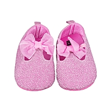 9b7dcccc07d Fashion Baby Girls Leather Prewalkers Soft Bottom Shoes Glittery Pink