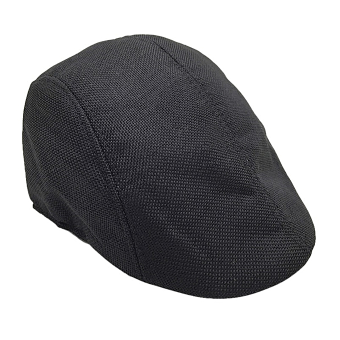 4e2293c46 New Men Summer Visor Hat Sunhat Mesh Running Sport Casual Breathable Beret  Flat Cap 9 Color Free Shipping F27(Black)