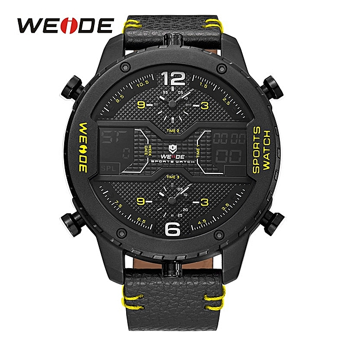 2191194ba10 Men s Fashion Sports Watches Man Quartz Analog Digital Date Clock Man  Leather Military Waterproof Watch Relogio