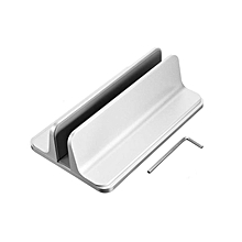 Aluminum Vertical Laptop Stand Desktop Adjustable Holder for MacBook Air Pro Pad