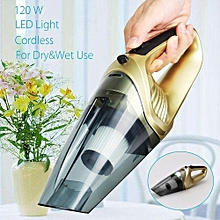 120W 4 In 1 Handheld Cordless Car Home Vacuum Cleaner Wet Dry Portable LED Quiet Gold
