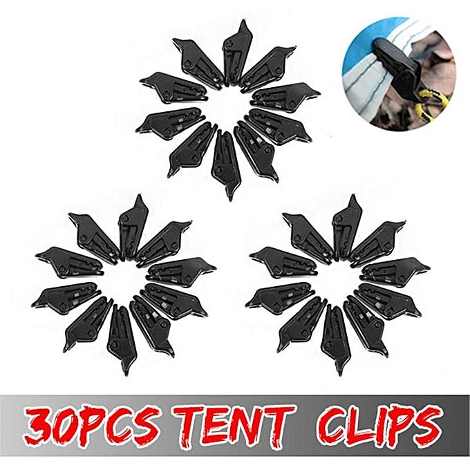 30pcs Tent Awning Clamp Tarp Clips Snap Hangers Camping Survival Tighten  Tool