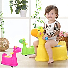 Cartoon cute deer children's toilet seat toilet yellow