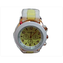 Geneva Watch - White Yellow