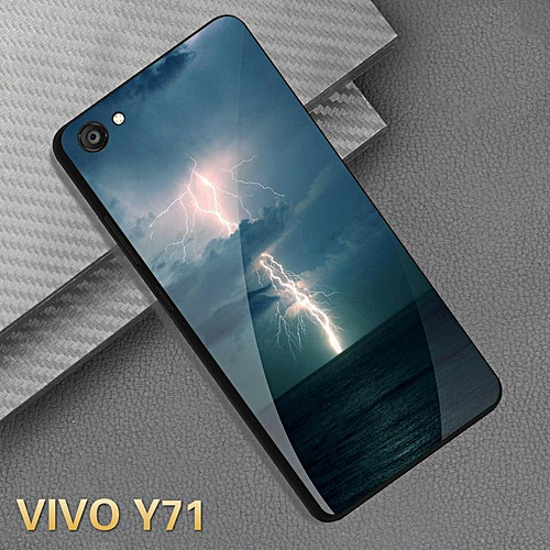 For VIVO Y71 Glass Case HD Full Coverage Tempered Glass Black Casing For  VIVO Y71 Cover Shell (1)