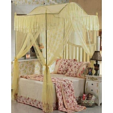 Canopy Mosquito Net with Metallic Stand - 6x6 - Cream